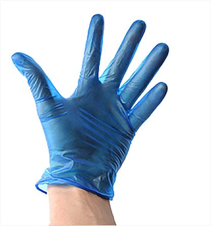 Blue PVC Plastisol Gloves size 9.5 - XL x 100 product photo
