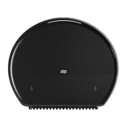 Tork Black Plastic Toilet Roll Dispenser, 133mm x 360mm x 437mm