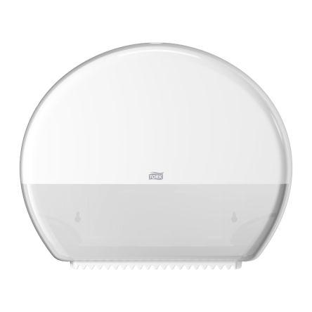 Tork White Plastic Toilet Roll Dispenser, 133mm x 360mm x 437mm