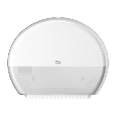 Tork White Plastic Toilet Roll Dispenser, 132mm x 275mm x 345mm