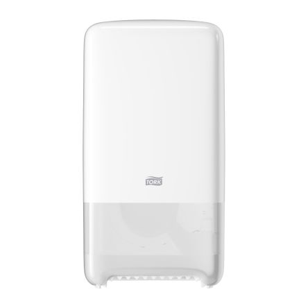 Tork White Plastic Toilet Roll Dispenser, 140mm x 344mm x 184mm