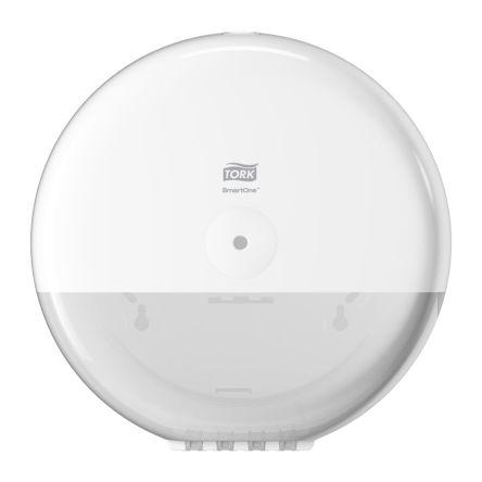 Tork White Plastic Toilet Roll Dispenser, 156mm x 269mm x 90mm