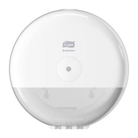 Tork White Plastic Toilet Roll Dispenser, 156mm x 219mm x 219mm