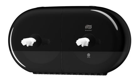 Tork Black Plastic Toilet Roll Dispenser, 156mm x 221mm x 398mm