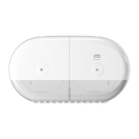 Tork White Plastic Toilet Roll Dispenser, 156mm x 221mm x 398mm