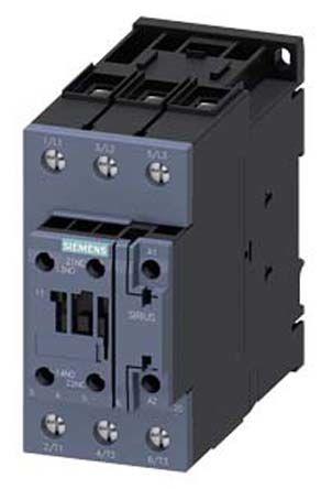 Sirius Innovation 3RT2 3 Pole Contactor, NO/NC, 55 (DC) A, 90 (AC) A, 102 kW, 110 V ac Coil, Screw Terminal