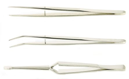 3 piece Carbon Steel Tweezer Set With Various Contents product photo