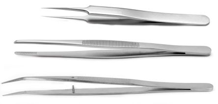 3 piece Titanium Tweezer Set With Various Contents product photo