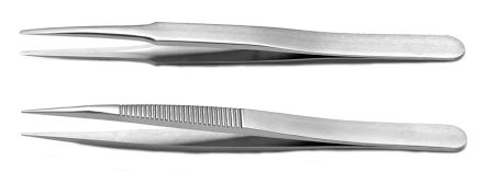 2 piece Stainless Steel Tweezer Set product photo