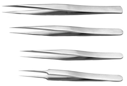 4 piece Titanium Tweezer Set With Various Contents product photo