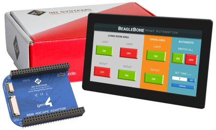 4D Systems gen4-4DCAPE-70CT-CLB TFT LCD Colour Display / Touch Screen, 7in, 800 x 480pixels
