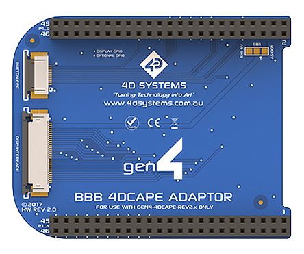 4D Systems gen4-4DCAPE BeagleBone Black Adaptor
