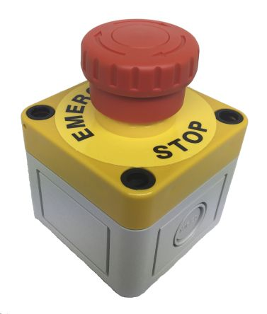 Apem, Red, Turn to Release 38.6mm Mushroom Head Emergency Button product photo