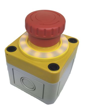 Apem, Red, Turn to Release 40mm Mushroom Head Emergency Button product photo