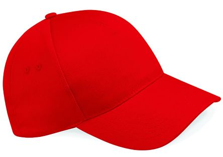5 Panel Cap Classic Red