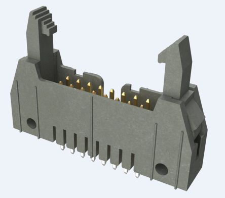 Amphenol FCI Quickie Series, Series Number 71918, 2.54mm Pitch, 16 Way 2 Row Unshrouded Vertical PCB Header