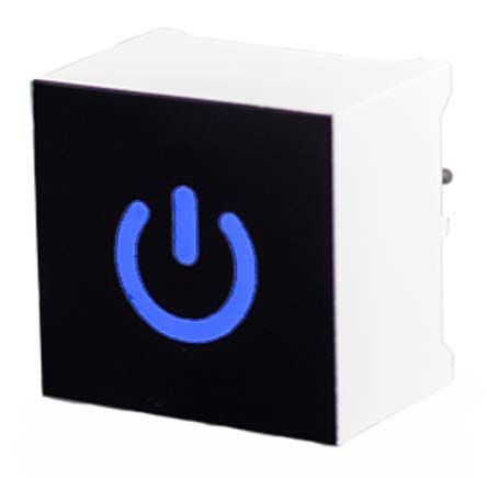 Capacitive Touch Switch ,Illuminated, Blue
