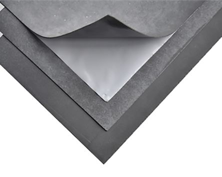 RS PRO Adhesive Soundproofing Sheet, 800mm x 500mm x 1.4mm
