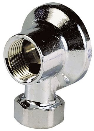 Sferaco Angled Wall Tap Connection with Nut Threaded Fitting