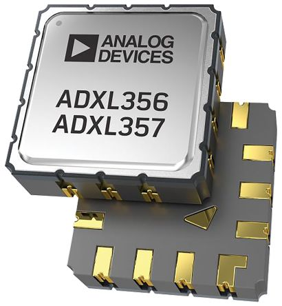 Analog Devices ADXL356BEZ, 3-Axis Accelerometer, I2C, SPI, LCC 14-Pin