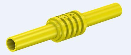Staubli Yellow Insulated Banana Coupler, 1kV