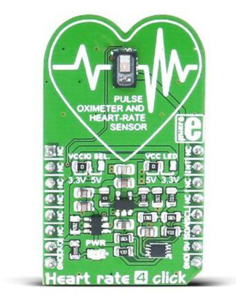 MikroElektronika for MAX30101 for ウェアラブルデバイス mikroBus Clickボード Heart-Rate 4 Click MIKROE-2510,