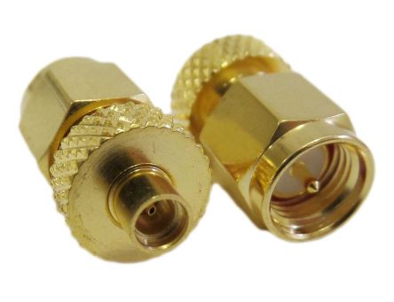 Gold Adapter Female to SMA Female MMCX
