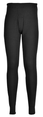 Black Unisex Cotton, Polyester Trousers Imperial Waist 33 -> 34in product photo