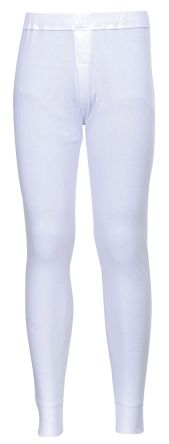 White Unisex Cotton, Polyester Trousers Imperial Waist 42 -> 44in product photo