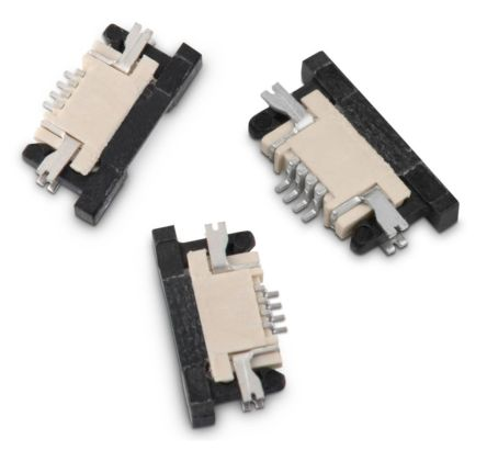 Wurth Elektronik WR-FPC 0 5mm Pitch 8 Way Horizontal SMT Female FPC  Connector, Bottom Contact