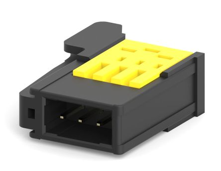 TE Connectivity RITS Connector Plug 3 Way Straight Cable Mount 2mm Pitch Yellow