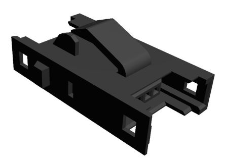 TE Connectivity RITS Connector Junction Box (2D Type) 4 Way Straight Panel Mount 2.007mm Pitch Black