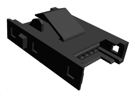 TE Connectivity RITS Connector Junction Box (2D Type) 6 Way Straight Panel Mount 2.007mm Pitch Black