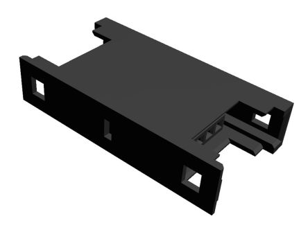 TE Connectivity RITS Connector Junction Box (2D Type) 4 Way Straight Cable Mount 2.007mm Pitch Black