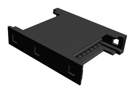 TE Connectivity RITS Connector Junction Box (2D Type) 8 Way Straight Cable Mount 2.007mm Pitch Black
