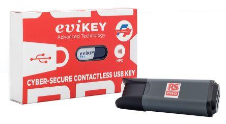 RS Pro eviKEY-NFC Pro 8 GB Encrypted NFC USB Flash Drive