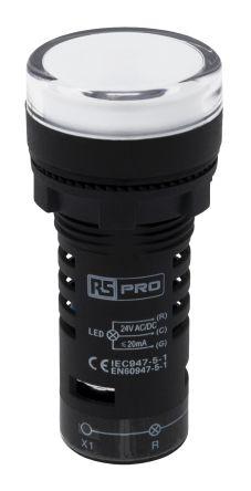 LED Indicator 22.5mm Red/Green 024Vac