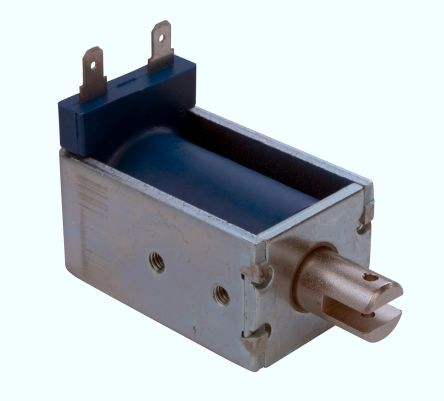 Linear Solenoid Actuator, 12 V dc, 110oz, 6 (Stroke oz @0.5 in), 34.9 x 52 x 30.9 mm product photo