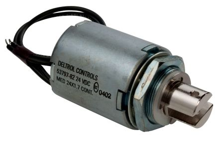 Linear Solenoid Actuator, 12 V dc, 31.1N, 2.2 (Stroke N @ 0.75 in), 39.18 x 50.7 x 41.28 mm product photo
