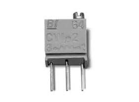 100kΩ, Through Hole Trimmer Potentiometer 0.25 W @ 85 °C Top Adjust TT Electronics/BI, 64