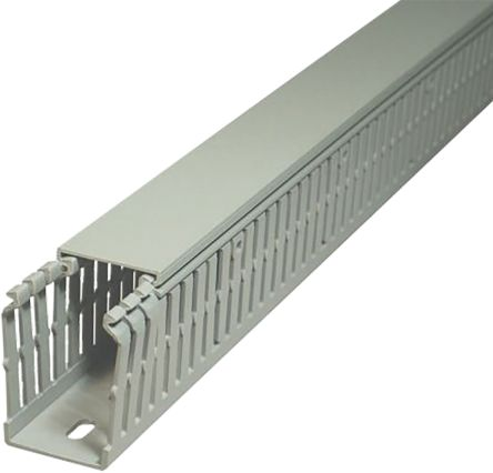 Slotted Panel Trunking GN-A6/4 LF Grey, Open Slot, W25 mm x D60mm, L2m PVC product photo