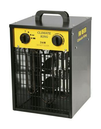 3kW Fan Heater, Portable, Type G - British 3-pin