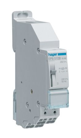 EPS510B Hager 1P Latching Relay with Normally Closed Contacts 16