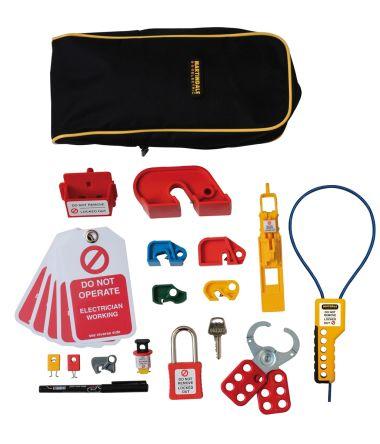 12 Lock, 6mm Shackle Plastic, Steel Lockout Kit