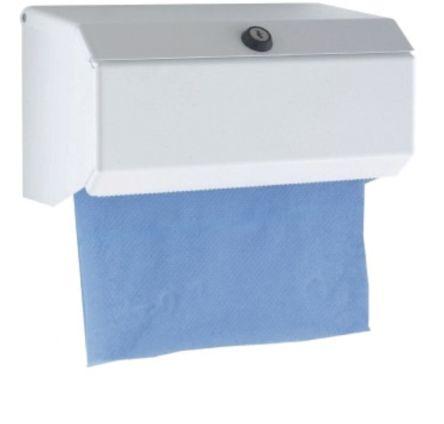Tork Metal White Wall Mounting Paper Towel Dispenser, 160mm x 155mm x 560mm