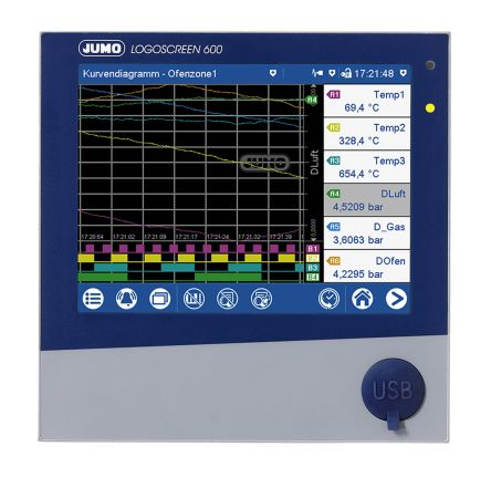Logoscreen 600, 3 (Analogue), 6 (Digital) Channel, Paperless Chart Recorder product photo