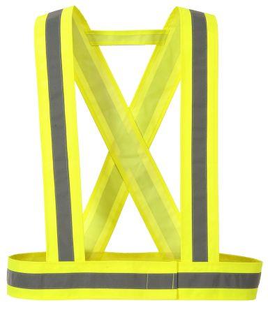 Hi Vis Body Strap Yellow One Size