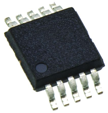 Analog Devices AD4005BRMZ, 16-Bit DSP, Micro Wire, QSPI, SPI ADC Differential Input, 10-Pin MSOP