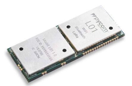 Pycom L01 3.3V BLE/LoRa/WiFi Module, Bluetooth Low Energy (BLE), LoRa, WiFi I2C, I2S, SPI, UART