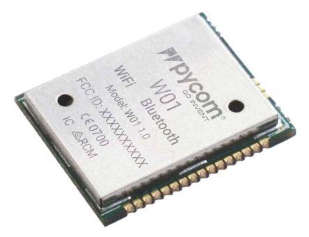 Pycom W01 3.3V BLE/WiFi Module, Bluetooth Low Energy (BLE), WiFi I2C, I2S, SPI, UART